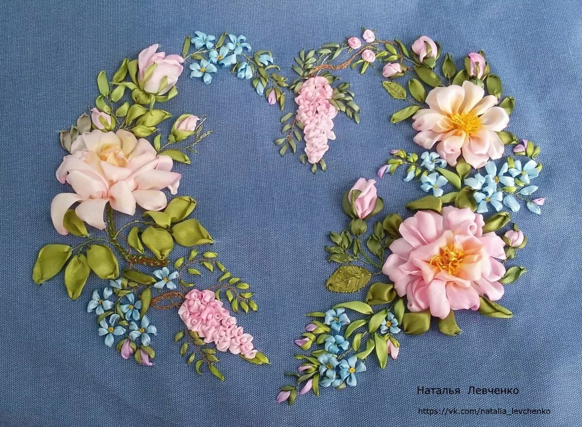 Картинки на ткань для вышивки лентами