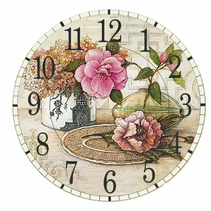 Красивые картинки для часов декупаж
