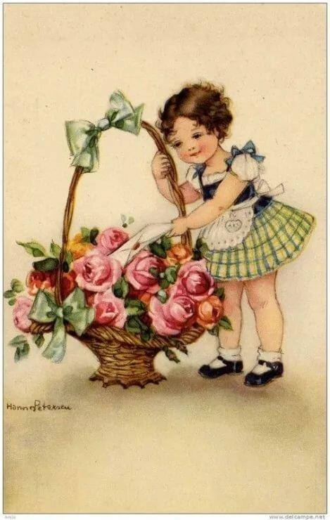 С юбилеем старинная открытка, картинки поздравления красивые