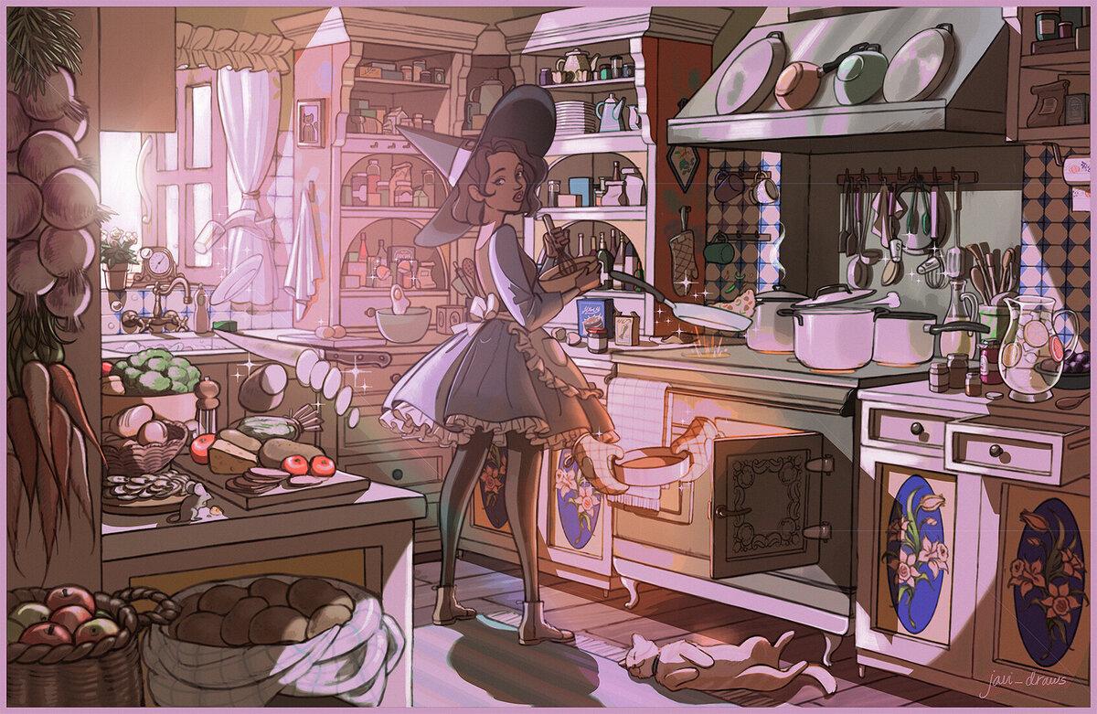Картинки арт кухня