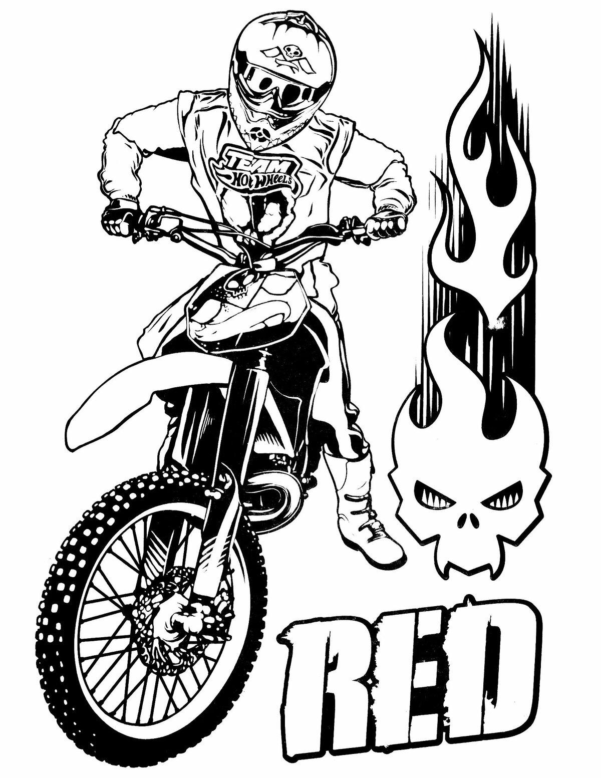 «Раскраска Мотоцикл Хот Вилс» — карточка пользователя ...