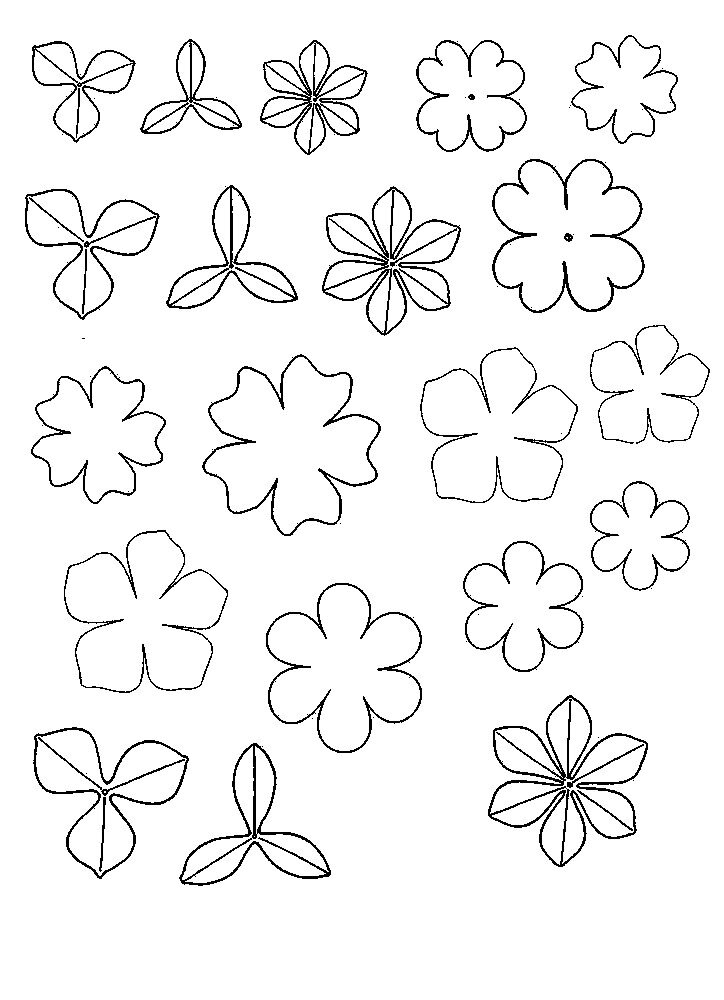 Рисунки, шаблон цветочка для открытки