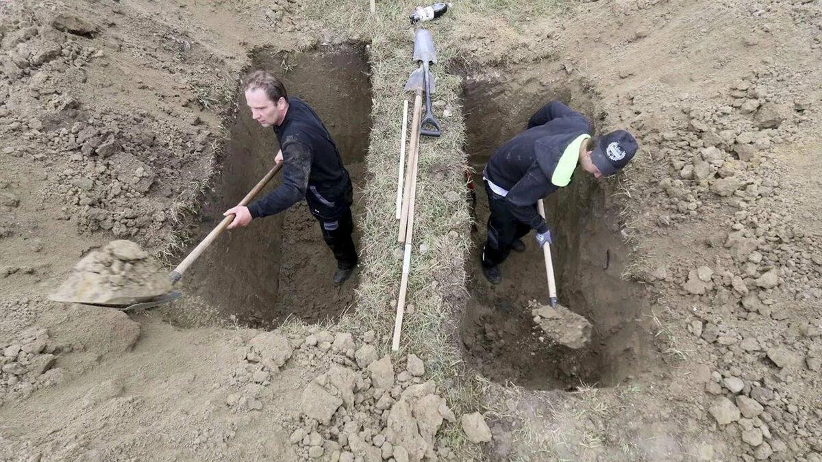 копать яму картинки