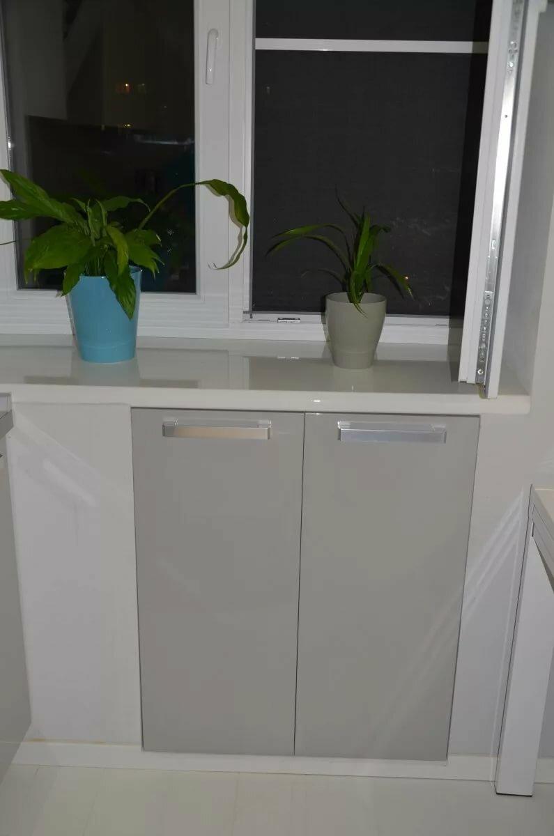 север холодильник под окном варианты отделки фото описание