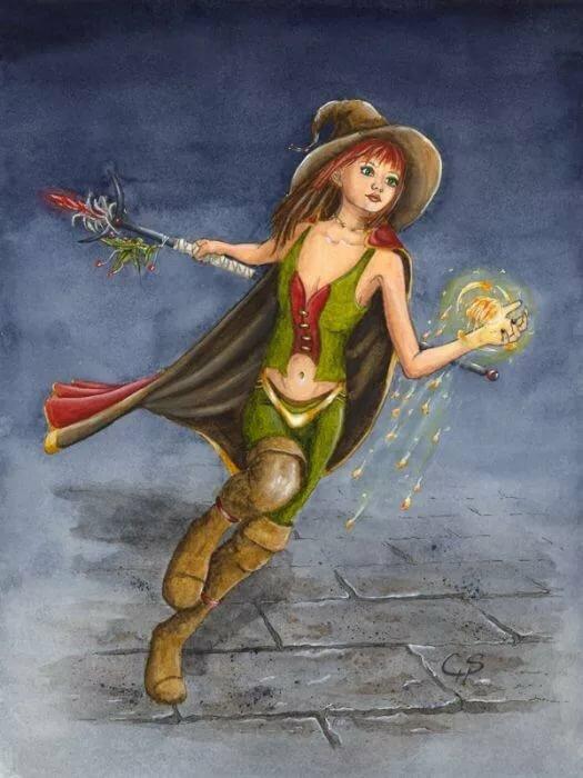Картинки для декупажа ведьма