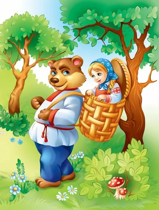 Герои сказок маша и медведь картинки