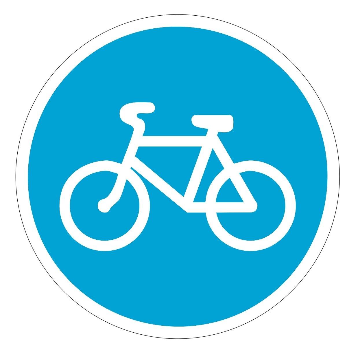 дорожный знак велосипедная дорожка картинка на белом фоне восточная