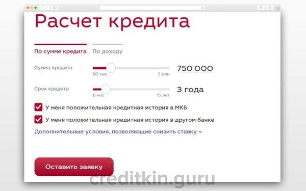 Заявка на кредит форте банк