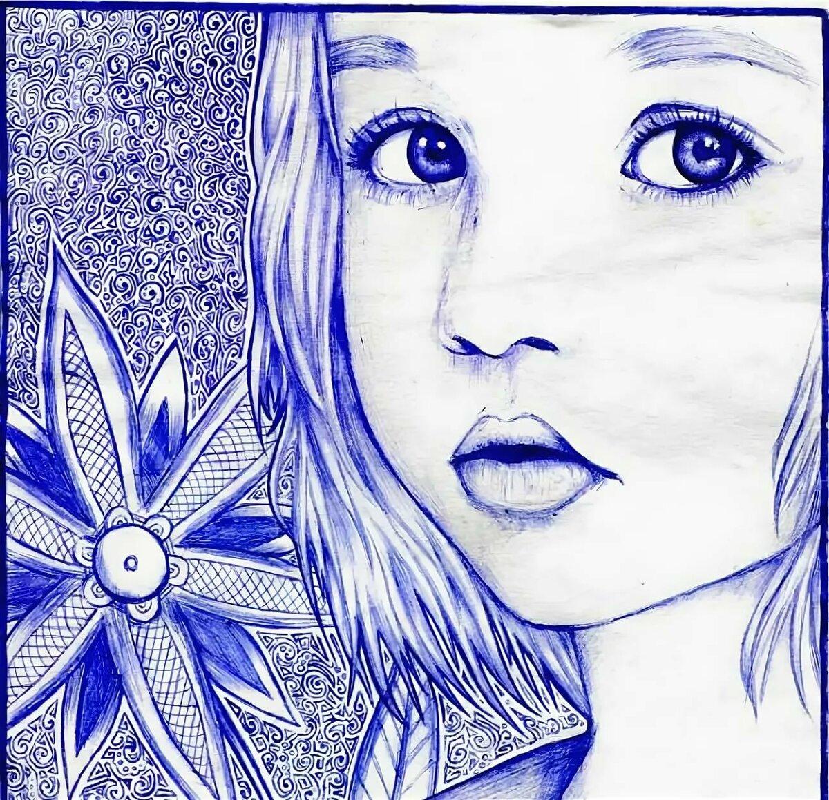 Картинки рисунки ручкой на бумаге