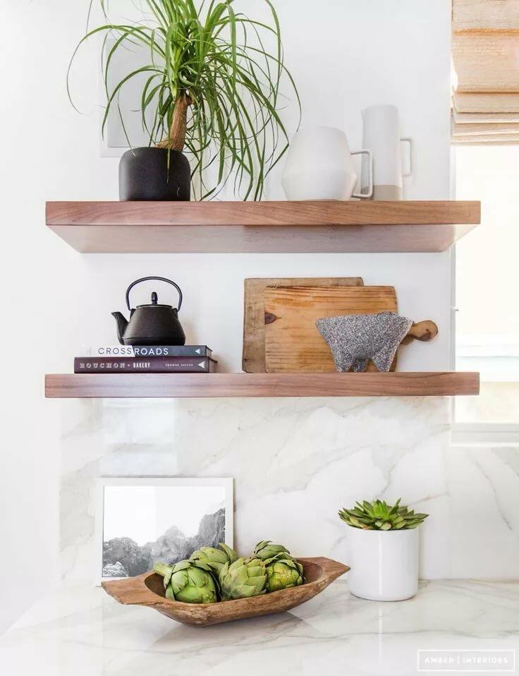 очень декоративные полки на кухню фото реликтовые виды