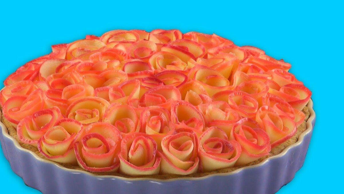 Картинки пирог роза вариантов