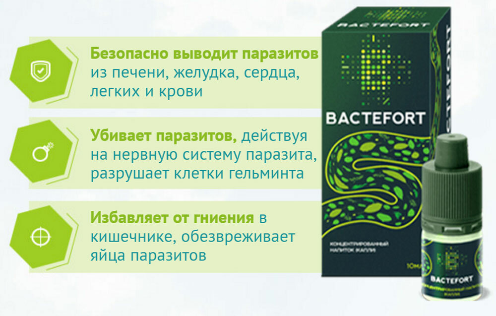 Bactefort капли от паразитов
