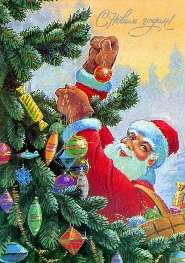 видео новый год Новый год Дед мороз, С новым годом и Рождество в стиле ретро