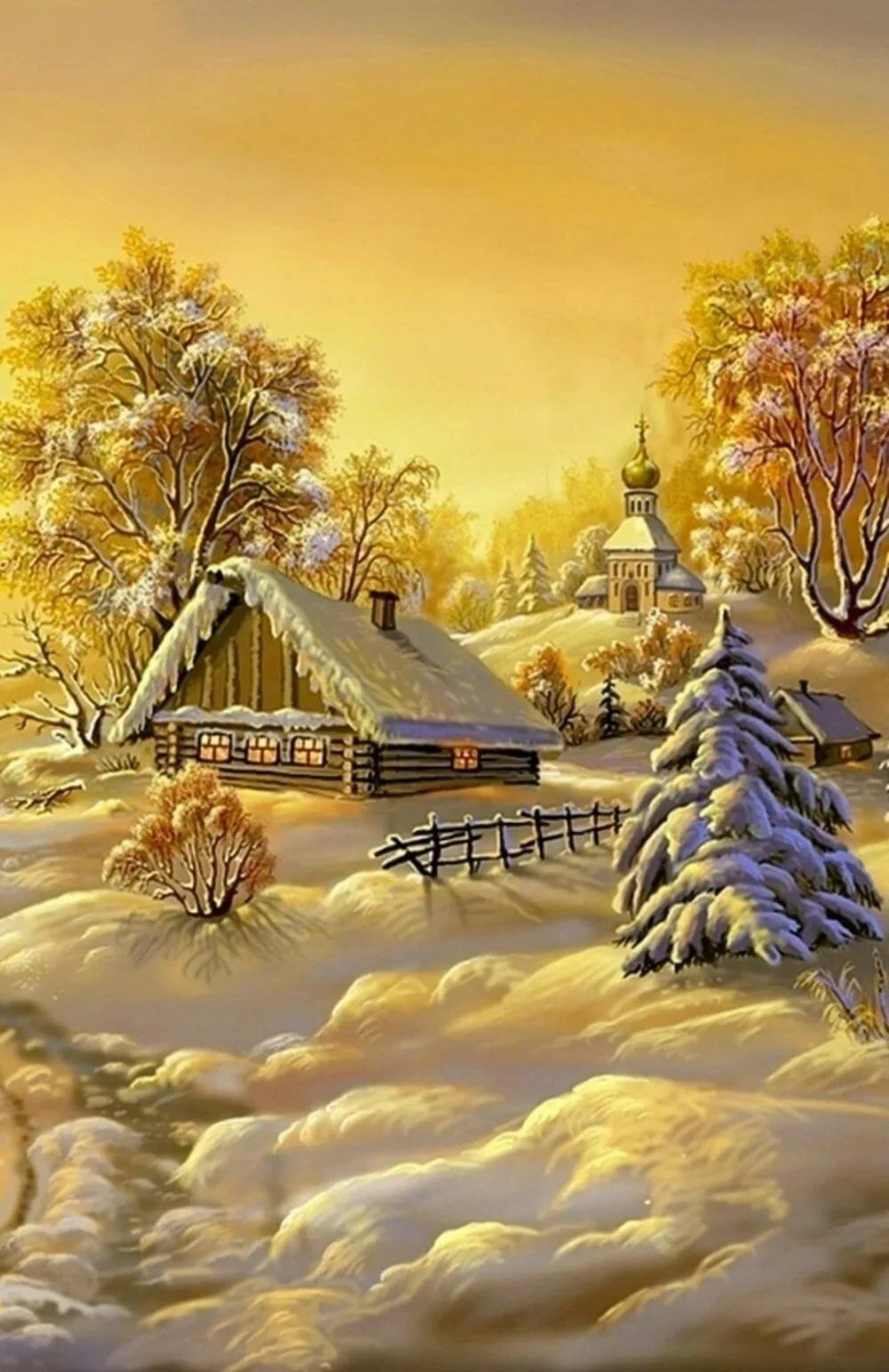Картинки, зимние картинки анимация на телефон