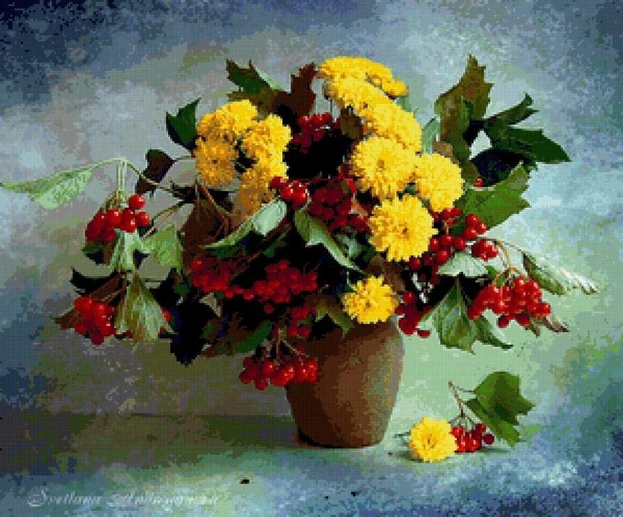 Открытки букетов осенних цветов, поздравление днем