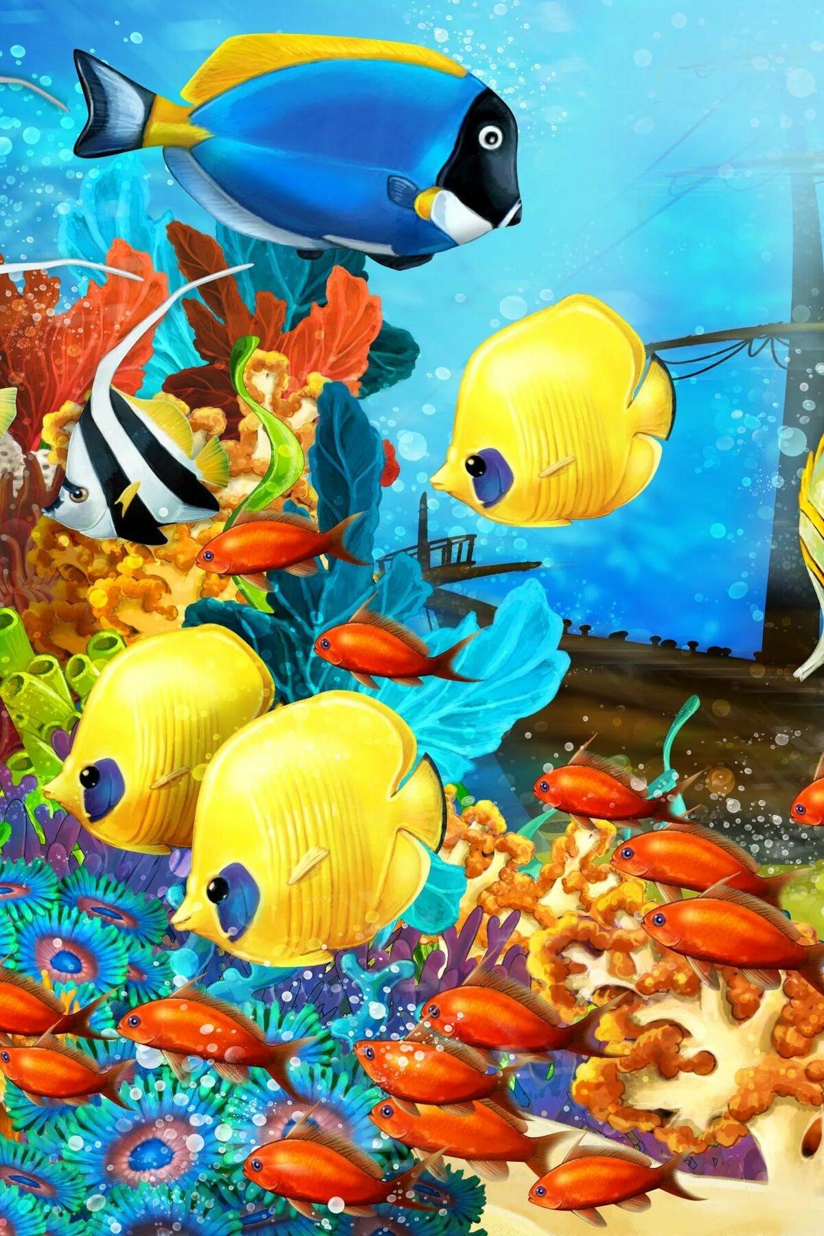друзей картинки с рыбками спортивный костюм