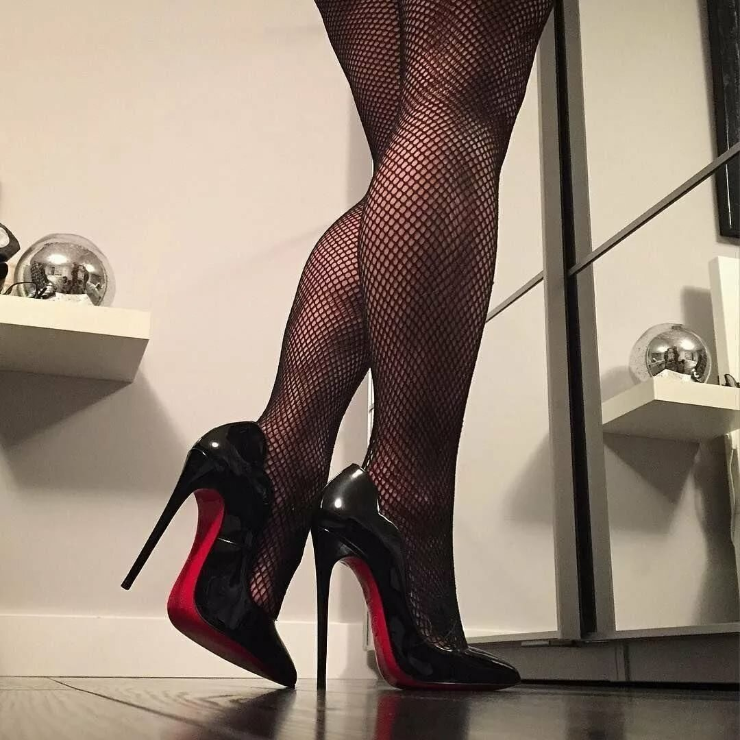 Stockings platform stilettos sexy legs