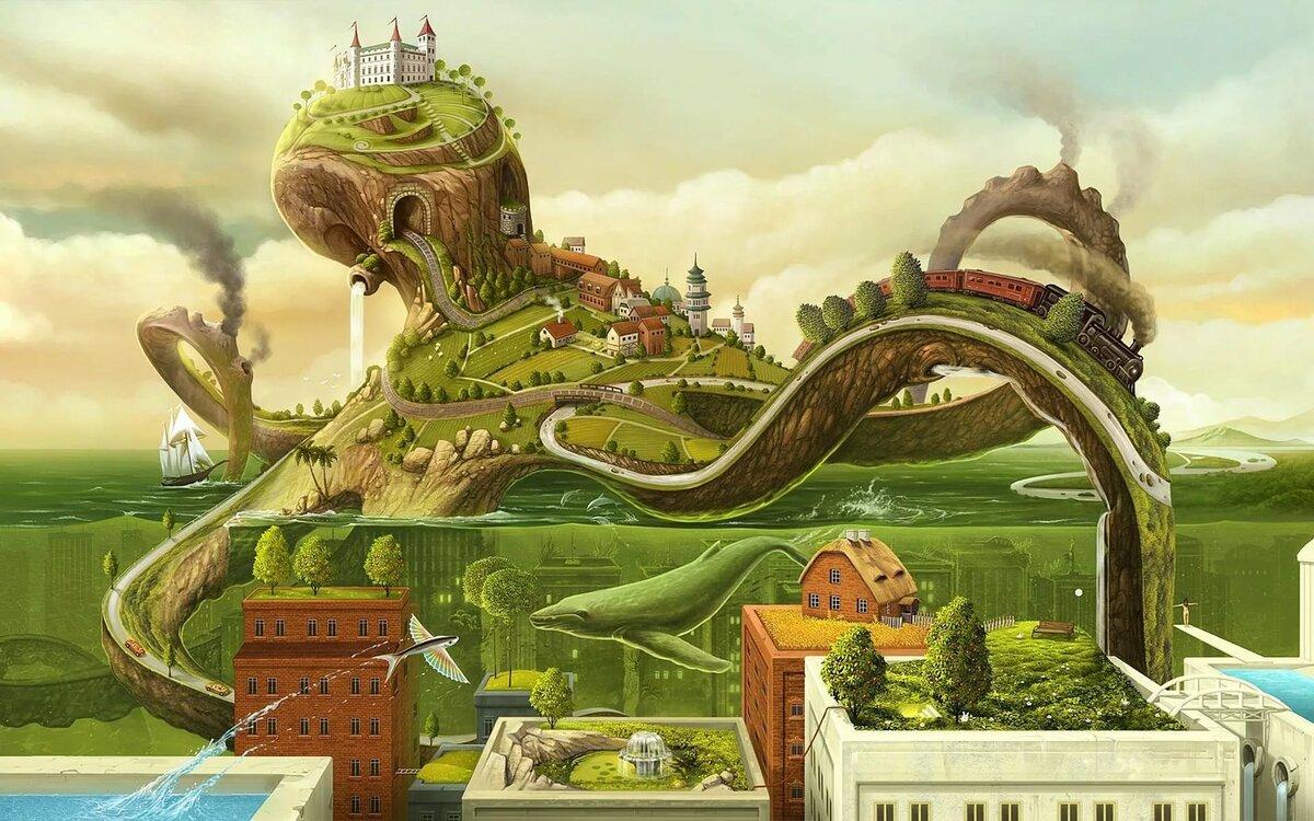 мир фантастики рисунки либо