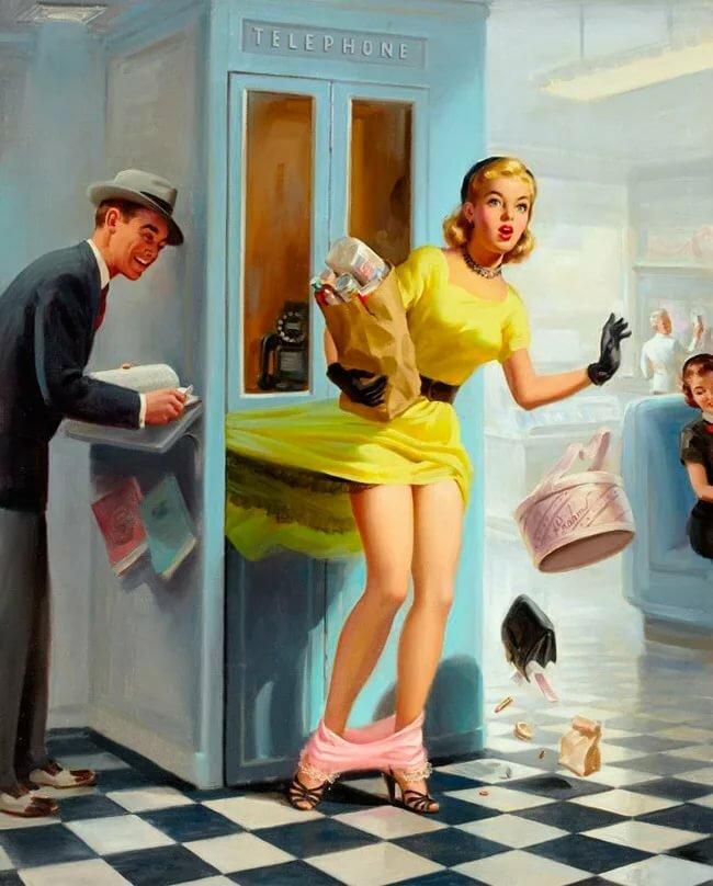 Прикольные картинки с современными девушками, смешная