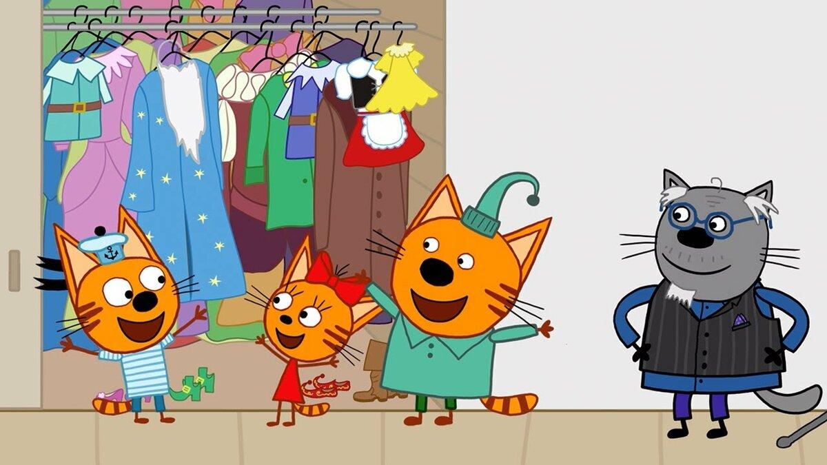 вас три кота новые серии картинки изделия, представленные нескольких