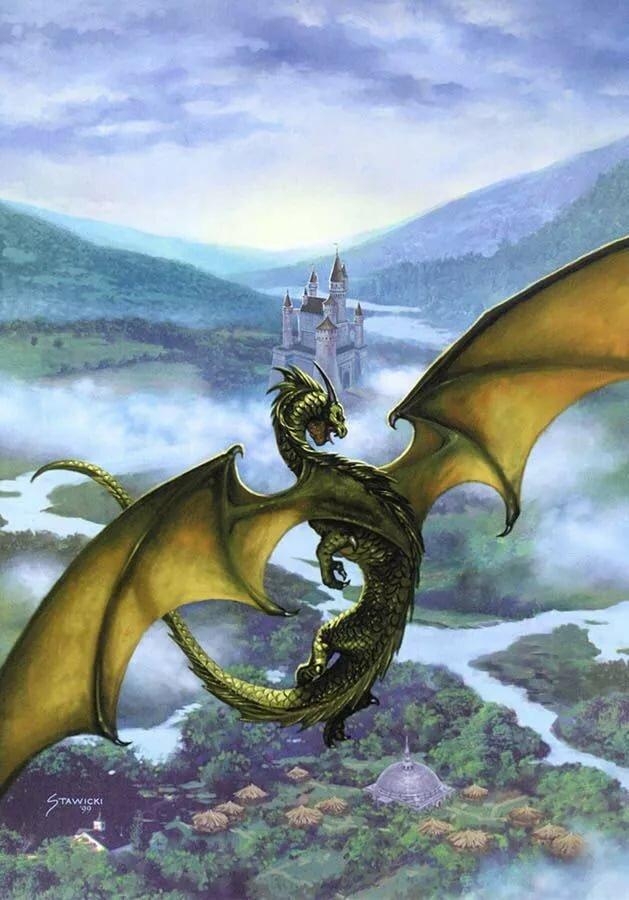 это, гифки с драконами и замками прикольные пожелания