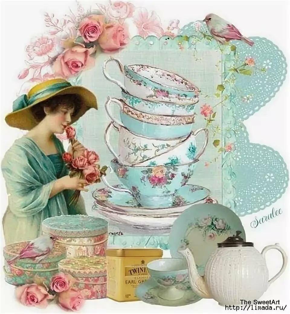 картинки к чаю для декупажа