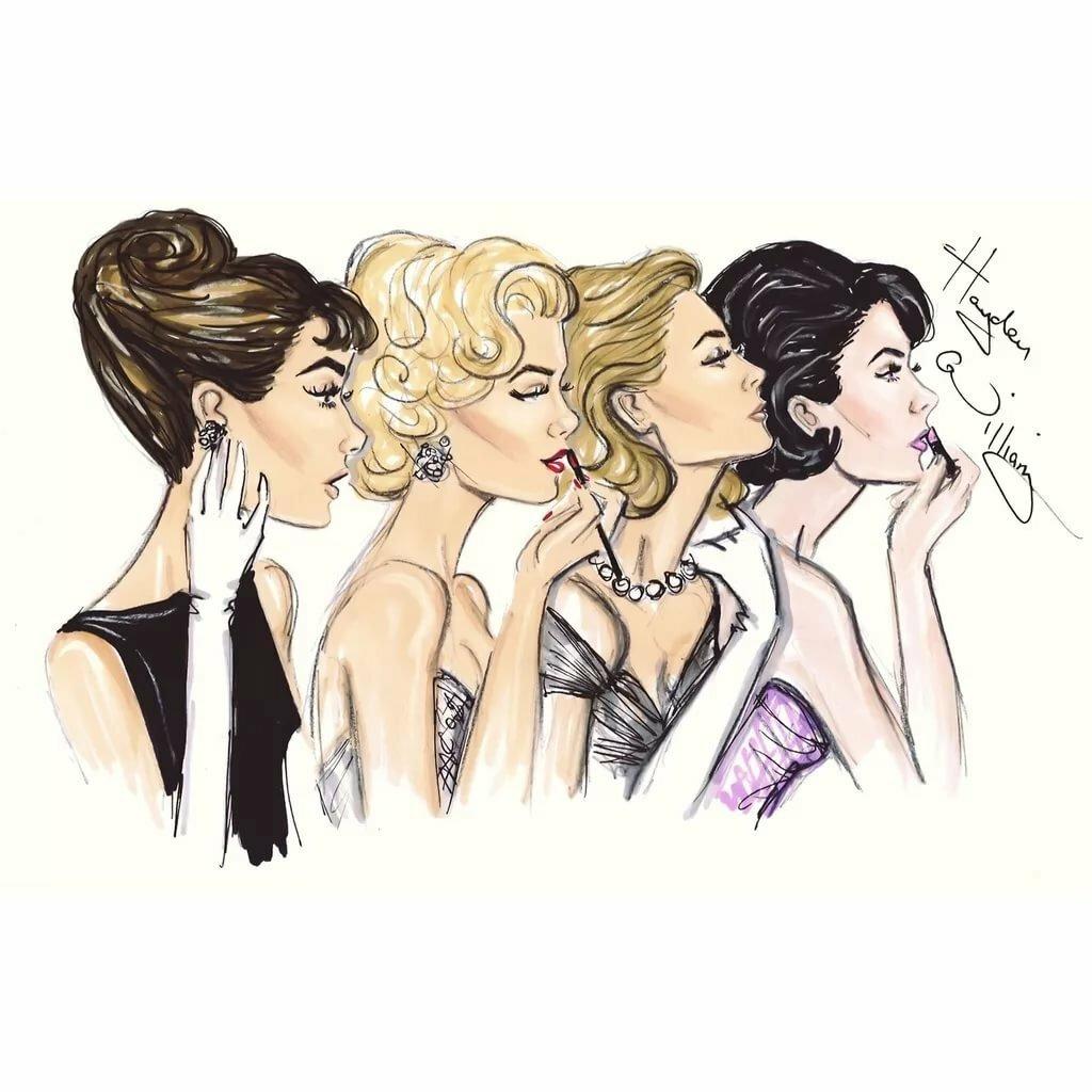 Новому году, картинки 4 девушки прикольные