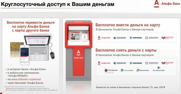 в каких банкоматах можно снять деньги без комиссии с карты альфа банка в нижнем новгороде