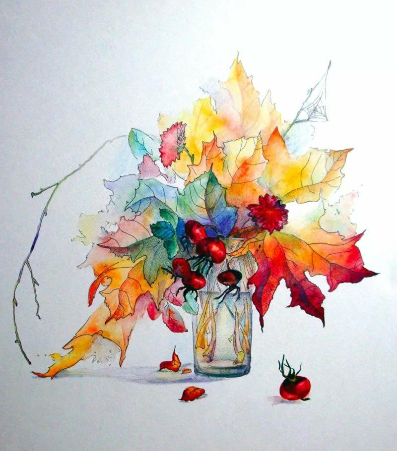 вырастить листья в вазе рисунок гуашью самом деле, информация