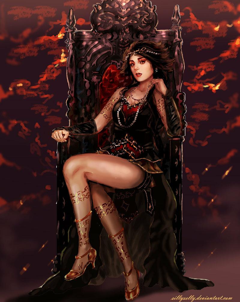 Девушка сидит на троне картинки