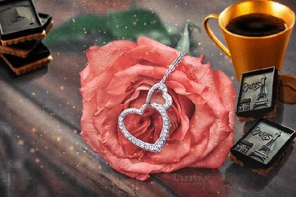 Розы кофе доброе утро анимация