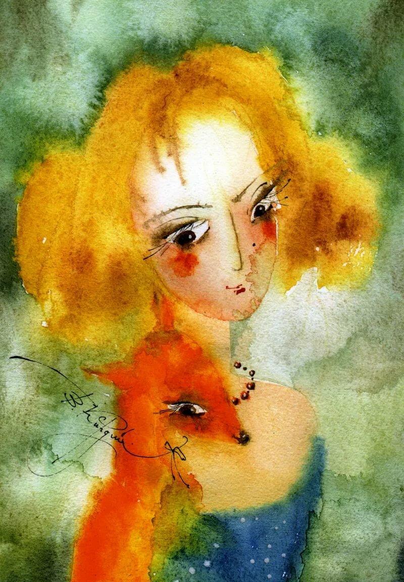Рыжая девочка открытки, картинка фото открытки