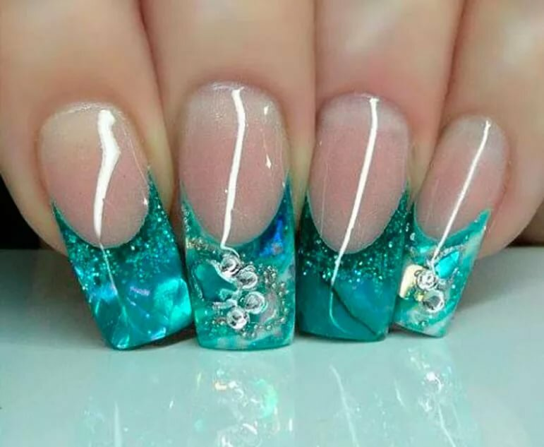 newest aquarium nail new technique ! one of the best ! - 771×633
