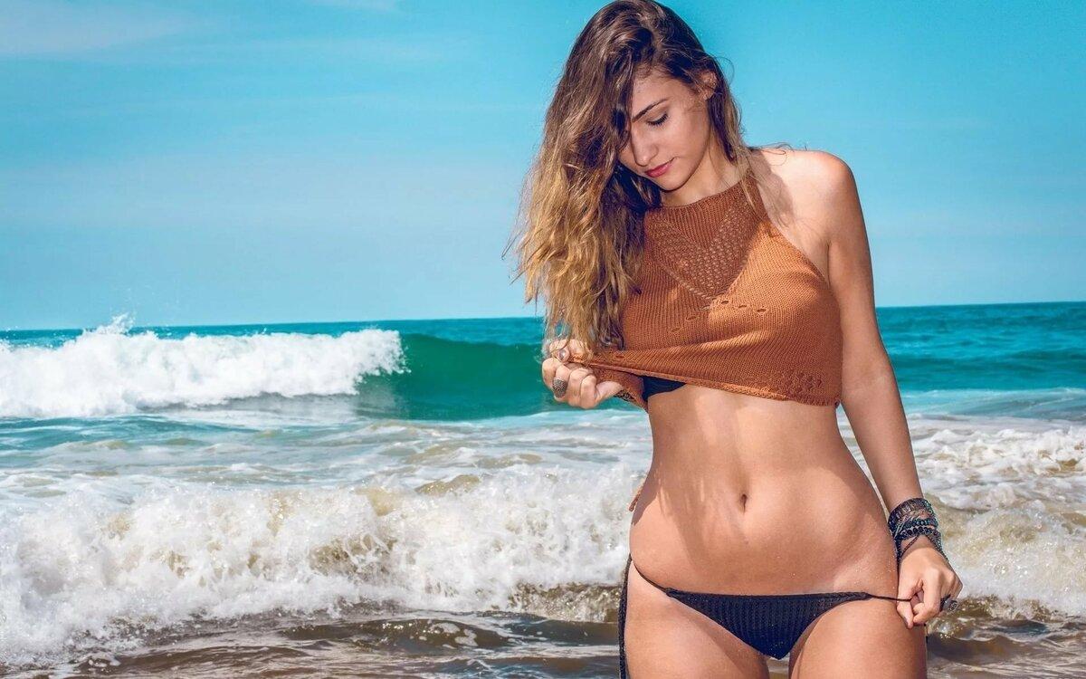 Картинки с пляжа девушки