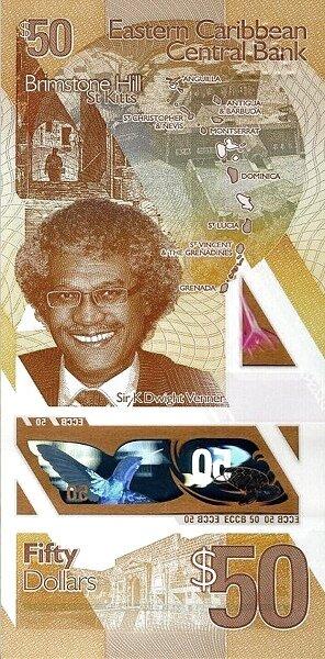 Банкнота, Организация Восточно-карибских государств, 50 долларов, 2019 год