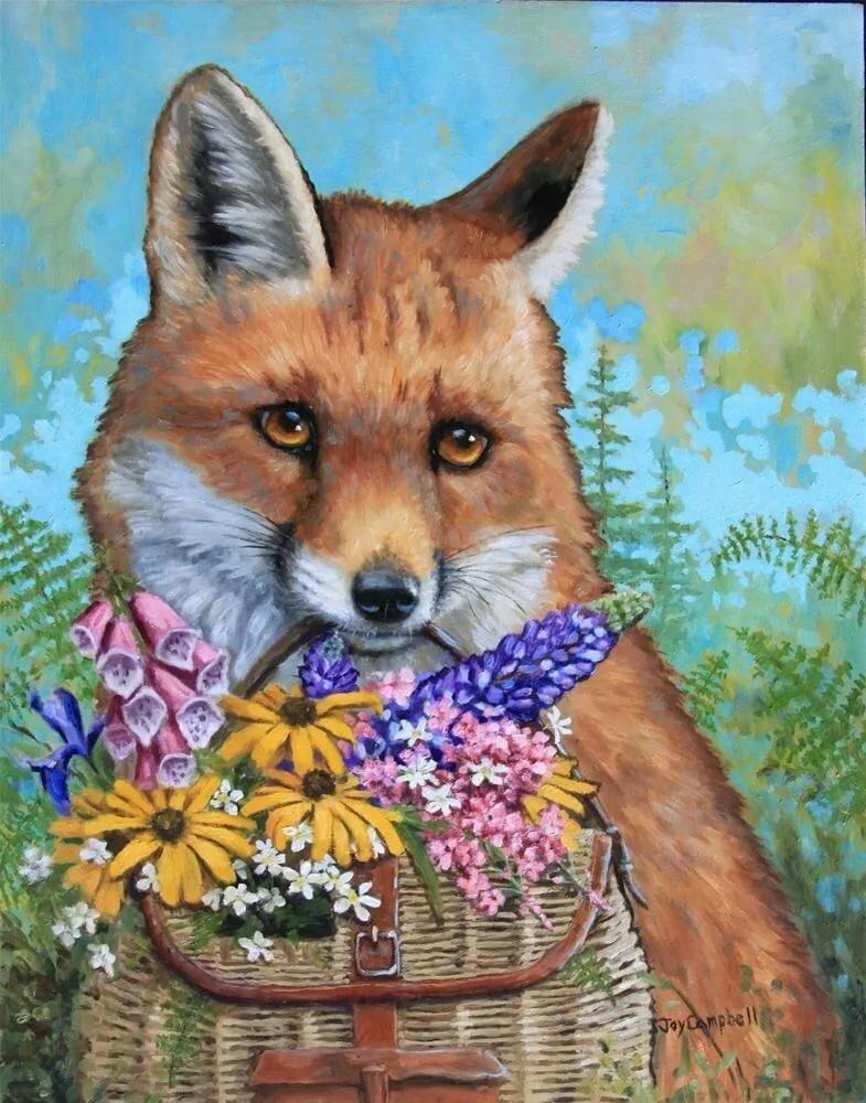 Рояль цветами, открытки с лисой с 8 марта