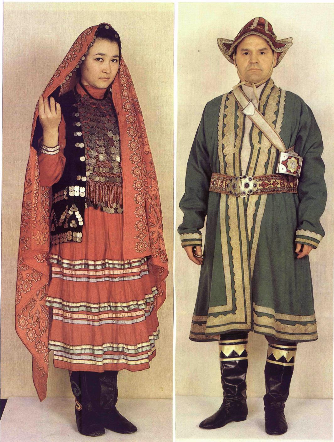 Башкирский национальный мужской костюм картинка