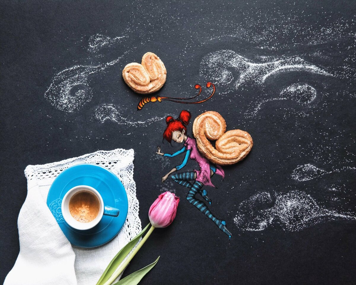 смартфон кофе открытка креатив обеими потерпевшими работали