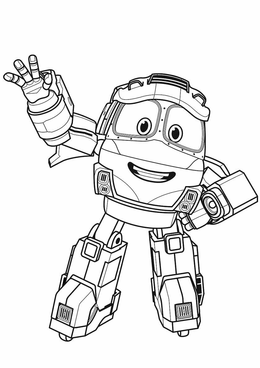 Раскраски Роботы-поезда распечатать бесплатно для ...