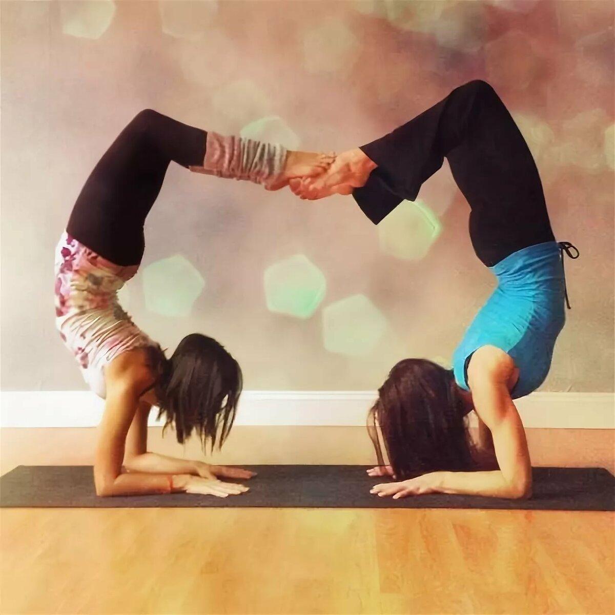 группы картинки для йоги для двоих несложные делаем