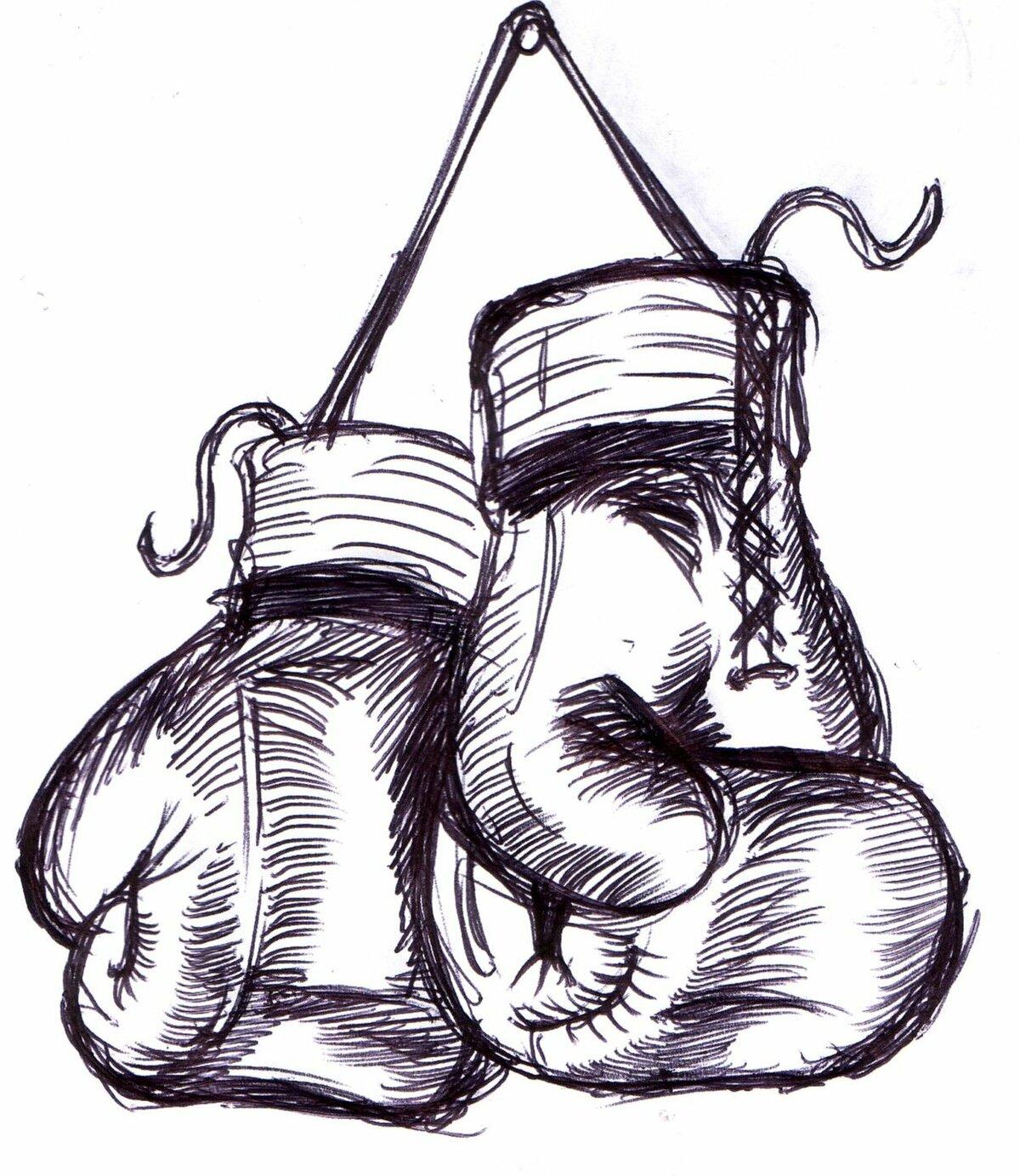 Картинки для срисовки бокс