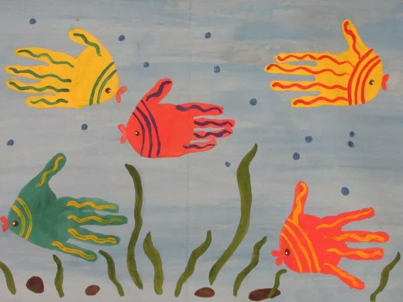 рисование рыбки в средней группе картинки год супруги
