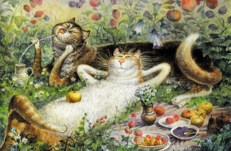Открытки питерские коты владимира румянцева, картинки покажи мне