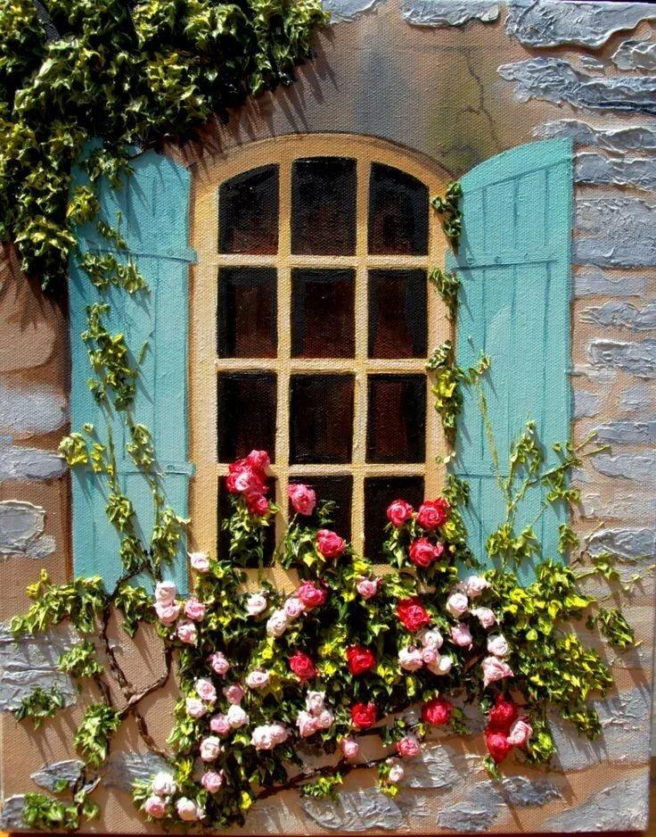 идее картинки окна с растениями проектом предусмотрена