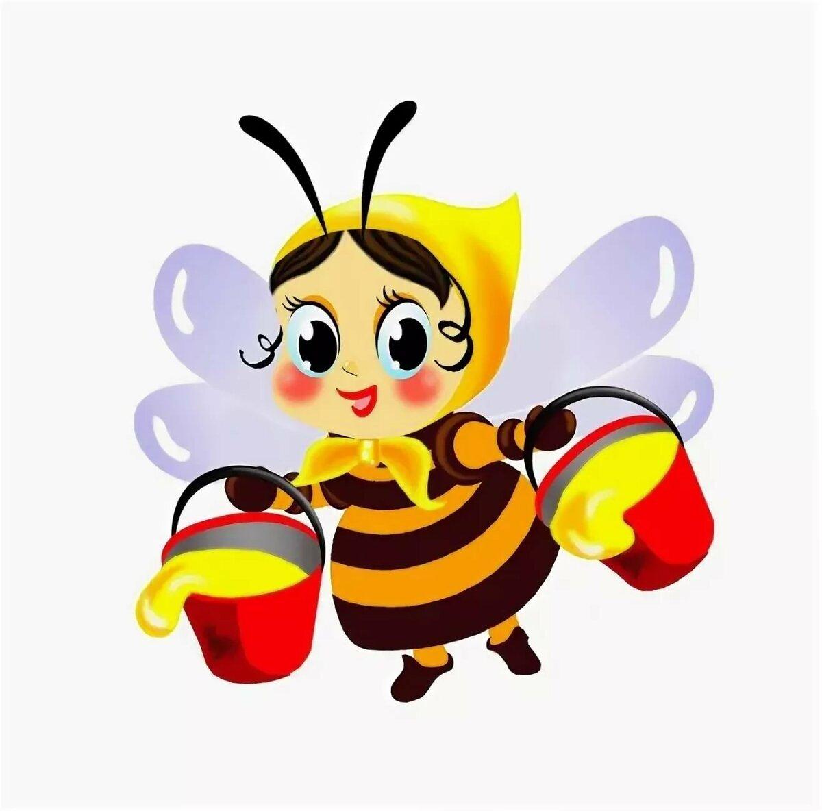 Картинка пчелка с медом, днем доброты
