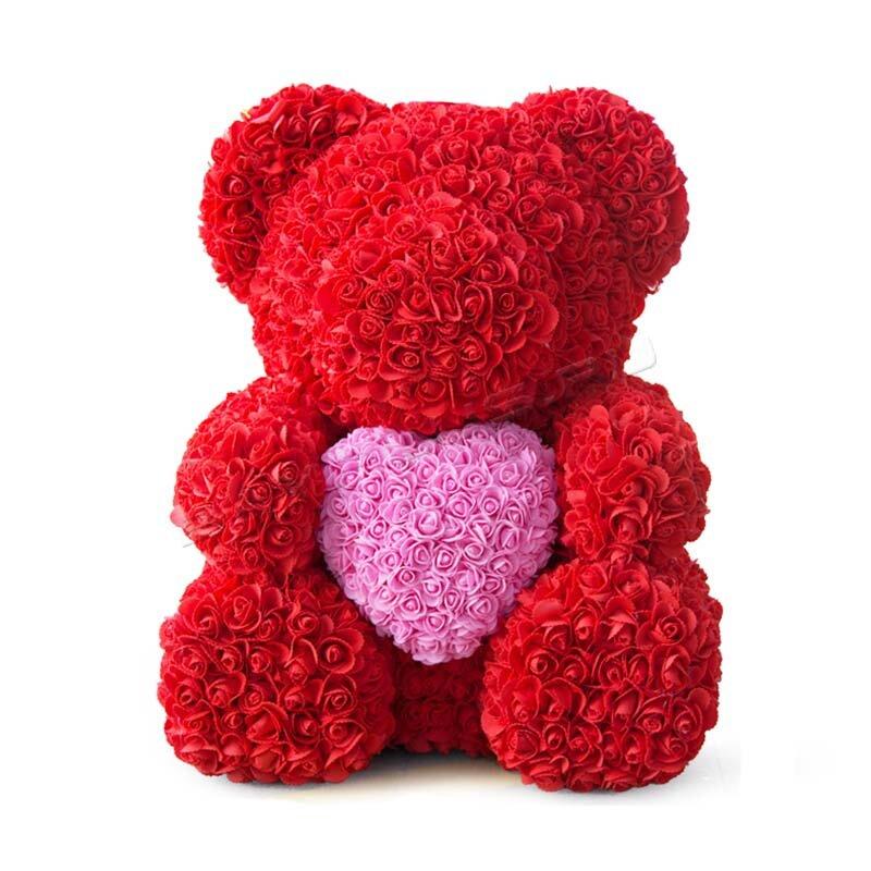 Фото тедди с розой и сердцем