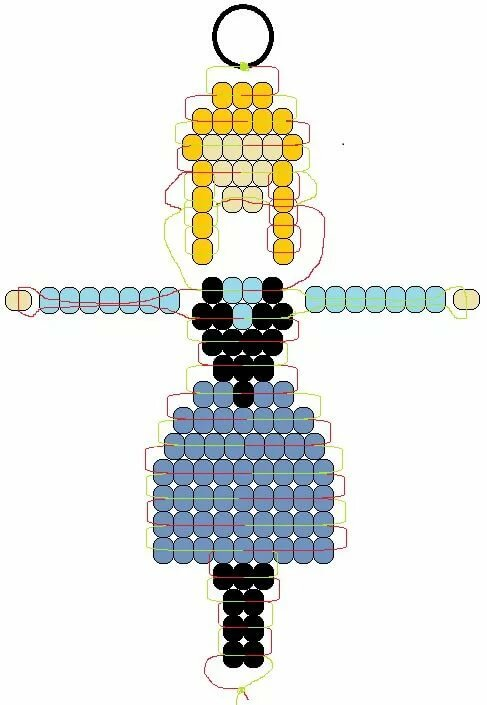 фигуры из бисера схемы в картинках при увеличении