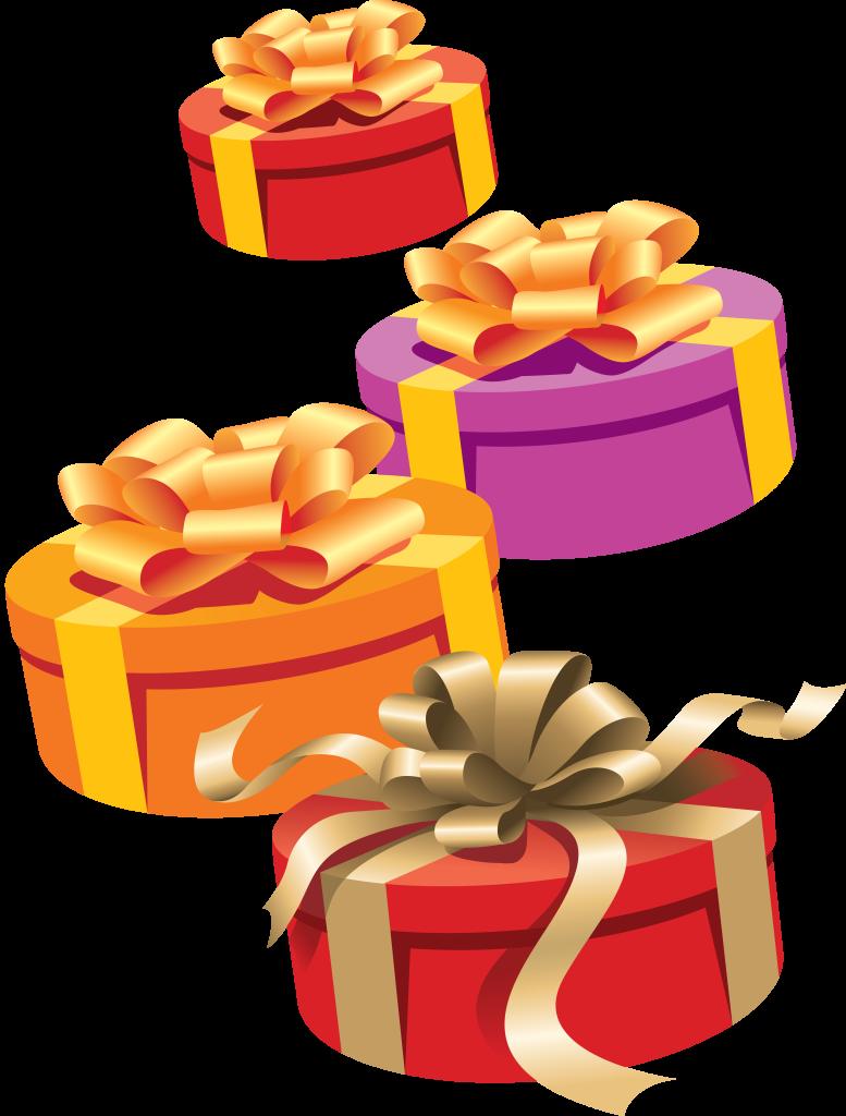 Картинка подарки на день рождения прозрачный фон