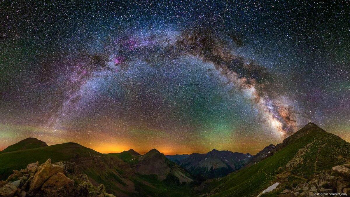 стены панорамное фото звездное небо круговой обзор вот этот