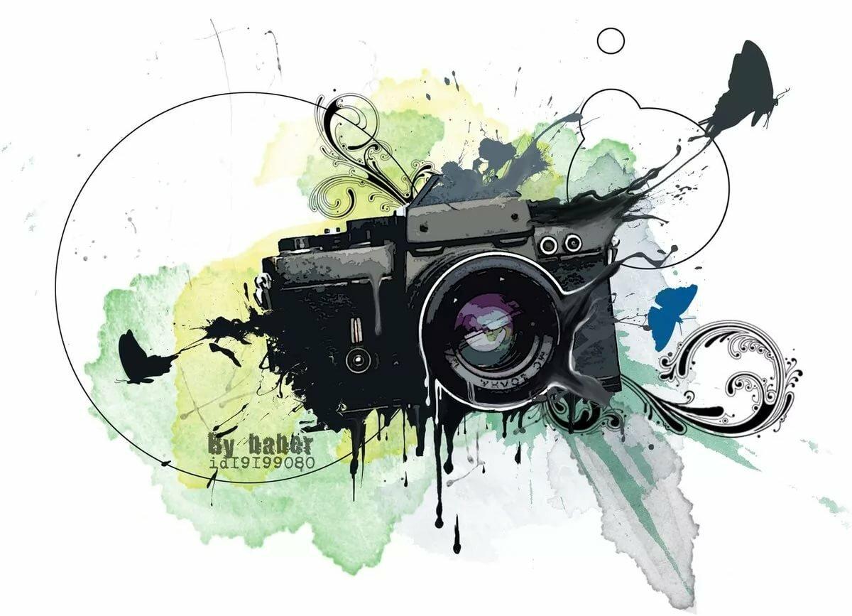 Стилизованная картинка фотоаппарат